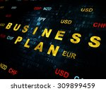 finance concept  pixelated... | Shutterstock . vector #309899459