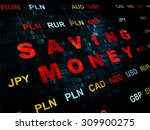 finance concept  pixelated red... | Shutterstock . vector #309900275