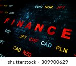 finance concept  pixelated red... | Shutterstock . vector #309900629
