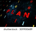 business concept  pixelated red ... | Shutterstock . vector #309900689