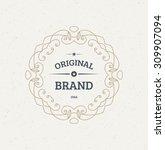 vintage frame for luxury logos  ... | Shutterstock .eps vector #309907094