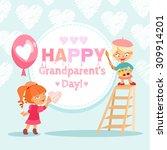 happy grandparent's day design... | Shutterstock .eps vector #309914201