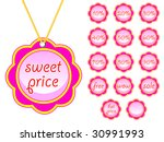 flower tags hot summer price | Shutterstock .eps vector #30991993