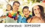 family happiness parents... | Shutterstock . vector #309920039