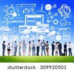 diversity business people... | Shutterstock . vector #309920501