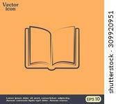 vector icon book  | Shutterstock .eps vector #309920951