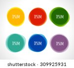 vector colorful round abstract... | Shutterstock .eps vector #309925931