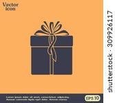 vector illustration of gift box | Shutterstock .eps vector #309926117
