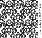 black and white vector celtic... | Shutterstock .eps vector #309931949