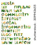 social media in the internet  ... | Shutterstock .eps vector #309943655