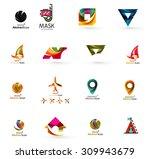 set of abstract travel logo... | Shutterstock .eps vector #309943679