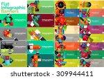 mega collection of vector flat...   Shutterstock .eps vector #309944411