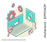 isometric design modern ... | Shutterstock . vector #309953639