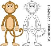 vector illustration set of a... | Shutterstock .eps vector #309969845