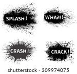 black grunge ink splat... | Shutterstock .eps vector #309974075