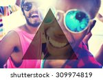 summer togetherness friendship... | Shutterstock . vector #309974819