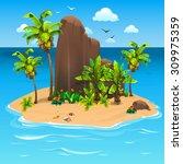 beautiful island | Shutterstock .eps vector #309975359