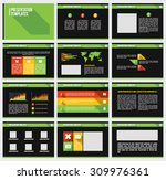 presentation slide templates... | Shutterstock .eps vector #309976361