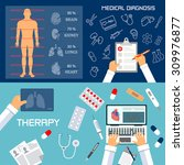 medical diagnosis and therapy... | Shutterstock . vector #309976877