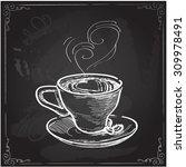 coffee cup  vector illustration ... | Shutterstock .eps vector #309978491
