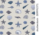 shell pattern | Shutterstock .eps vector #309991571