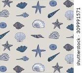 shell pattern   Shutterstock .eps vector #309991571