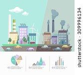 environment of the modern city. ... | Shutterstock .eps vector #309996134