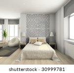 interior of modern bedroom. 3d... | Shutterstock . vector #30999781