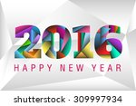 happy new year 2016 with happy...   Shutterstock .eps vector #309997934