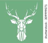 geometric deer | Shutterstock .eps vector #309999071