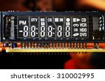 display unit from tv recording... | Shutterstock . vector #310002995