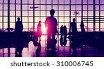 back lit business people... | Shutterstock . vector #310006745