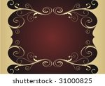 red and gold floral background | Shutterstock .eps vector #31000825