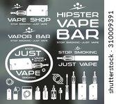 vapor bar and vape shop logo... | Shutterstock .eps vector #310009391