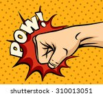 fist hitting  fist punching in...   Shutterstock . vector #310013051