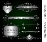 monogram design elements and... | Shutterstock .eps vector #310022891