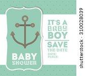 baby shower digital design ... | Shutterstock .eps vector #310028039