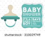 baby shower digital design ... | Shutterstock .eps vector #310029749