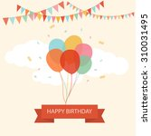 happy birthday text box  color... | Shutterstock .eps vector #310031495