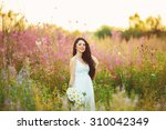 girl at sunset | Shutterstock . vector #310042349