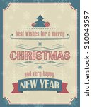 christmas and new year card in...   Shutterstock .eps vector #310043597