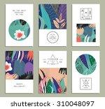 set of creative universal... | Shutterstock .eps vector #310048097