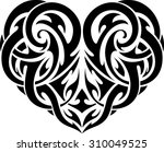 abstract heart shape tattoo | Shutterstock .eps vector #310049525