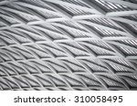 modern of metal roof structure... | Shutterstock . vector #310058495