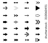 set icons arrows | Shutterstock .eps vector #310060451