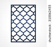 cutout paper card. lazercut... | Shutterstock .eps vector #310062455