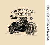 vector motorcycle advertising... | Shutterstock .eps vector #310062461