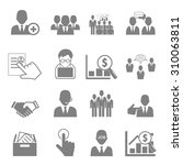 vector icon set business and... | Shutterstock .eps vector #310063811