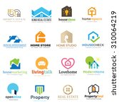 home and real estate logo set   Shutterstock .eps vector #310064219