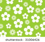 green background with white... | Shutterstock . vector #31006426